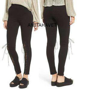 ASI3NNA Lace Up Pants Black Style BMS241 Size XS